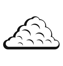 One cloud icon simple style vector