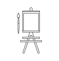 Paint brush and board school tool design vector