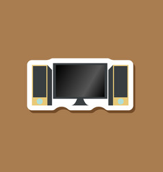 Paper sticker on stylish background computer vector