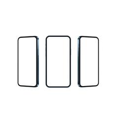 phone blue mockup isolated on white background vector image