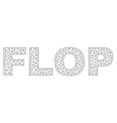 Polygonal mesh flop text caption vector
