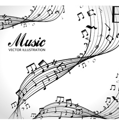 Poster with musical notes isolated icon design vector