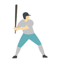 Professional baseball player icon isolated vector