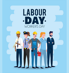 Professional employers to celebrate labour day vector