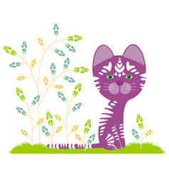 Purple fantastic tiger vector