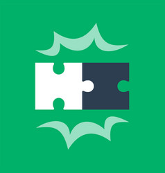 Puzzle pieces two jigsaw together vector