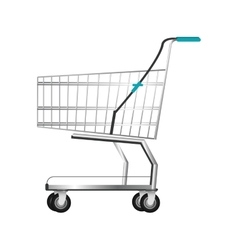 realistic shopping cart icon vector image