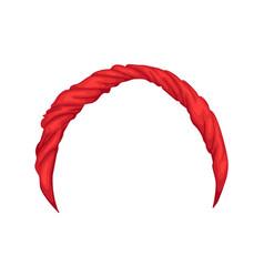 retro headband for woman red bandana for vector image