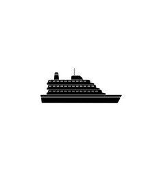 ruise ship icon ship icon black on white vector image