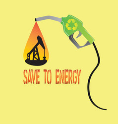 save to energy concept vector image