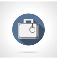 Secret case flat color round icon vector image