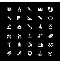 Set icons of welding and soldering vector