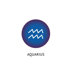 sign zodiac and horoscope aquarius vector image