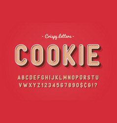 sweet cookie font design alphabet vector image