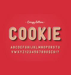 Sweet cookie font design alphabet vector