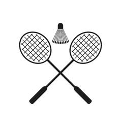 The badminton icon Sport symbol Flat vector image