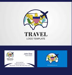Travel virgin islands us flag logo and visiting vector