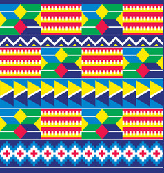 Tribal ghana seamless geometric pattern vector