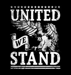 United we stand vector