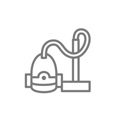 vacuum cleaner line icon vector image