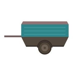 Vehicle trailer vector image