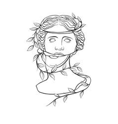Venus de milo s head 2 vector