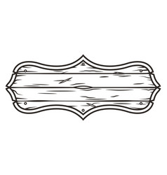 Vintage blank wooden saloon signboard concept vector
