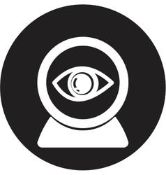 Web camera eye icon vector image