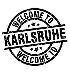 welcome to karlsruhe black stamp vector image