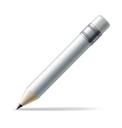 White pencil vector image