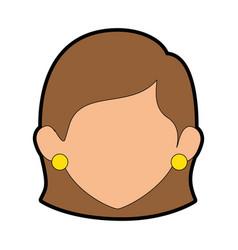 Woman cartoon faceless vector
