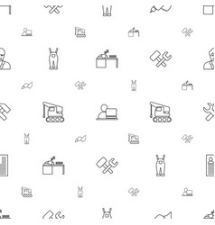 worker icons pattern seamless white background vector image