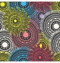 abstract hand drawn background Zentangle vector image vector image