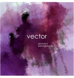polygonal watercolor vector image vector image