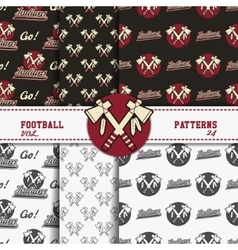 Set of american football patterns Usa sports vector image