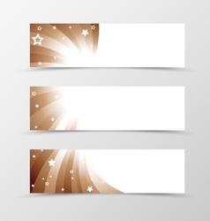 Set of banner swirl design vector image vector image
