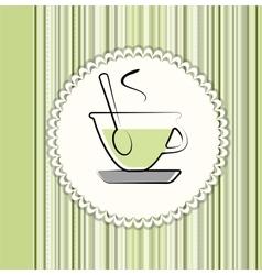 Tea menu card vector image vector image