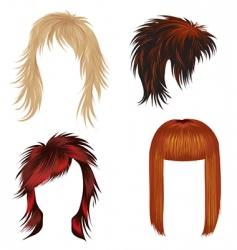 trendy hair styling for woman vector image vector image