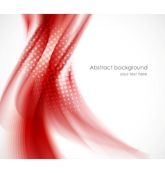 Wavy red background vector image vector image