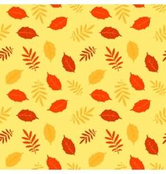 Autumn fallen leaves seamless pattern vector image