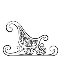 Christmas sleigh gift basket vector image vector image
