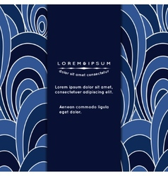 Invitation card with abstract upholstery vector image