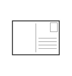 postcard envelope icon business concept postal vector image