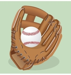 realistic Baseball glove and vector image