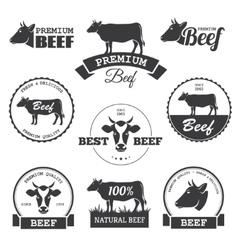 Beef labels vector image