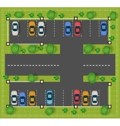 Car parking vector image