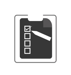 clipboard with check list vector image