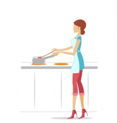 female cook vector image