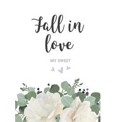 floral card design garden white powder peony vector image
