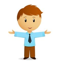 happy cartoon businessman vector image vector image